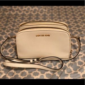 MK Michael Kors white purse